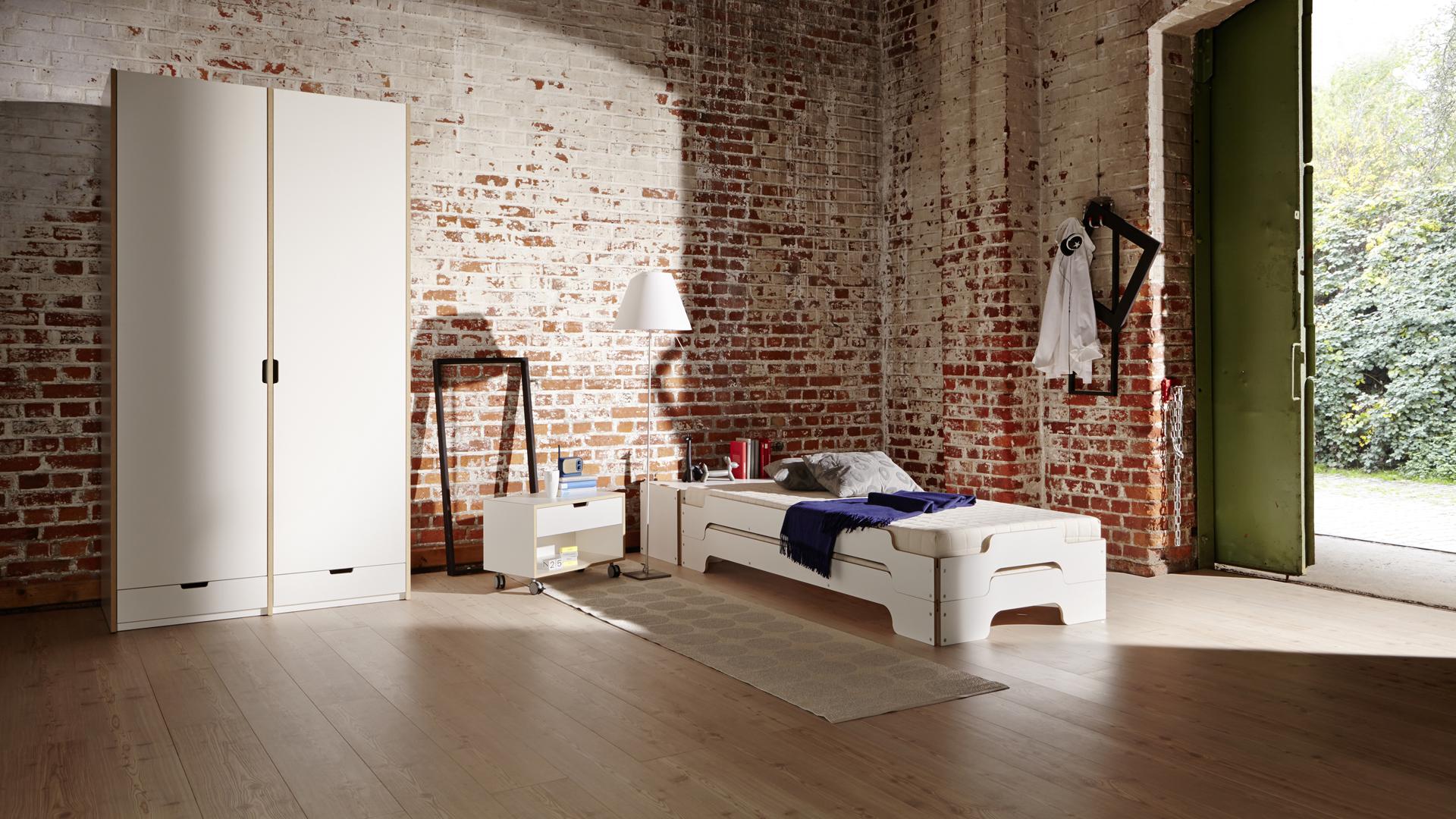 m ller m belwerkst tten betten regale und schr nke bei prinz wohnen. Black Bedroom Furniture Sets. Home Design Ideas