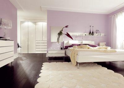 Schlafzimmer Metis-Plus von Hülsta Ausführung Hochglanz-reinweiß