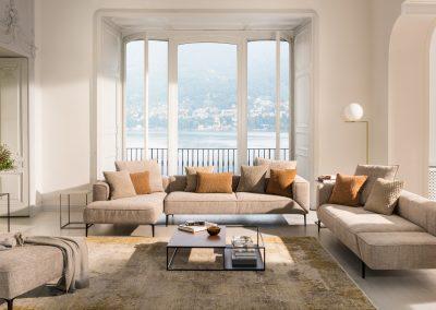 Sofa Longueville Landscape von Jori mit Stoffbezug