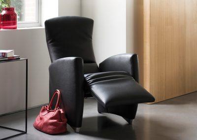 Sessel Vinci von Jori aus schwarzem Leder