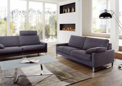 Sofa Classic 500 von Erpo mit grauem Stoffbezug
