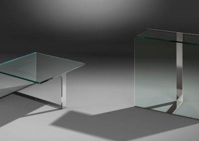 Glasbeistelltisch von Dreieck Design