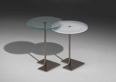 Runder Glasbeistelltisch von Dreieck Design