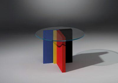 Glascouschtisch von Dreieck Design
