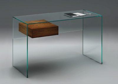 Glasschreibtisch von Dreieck Design
