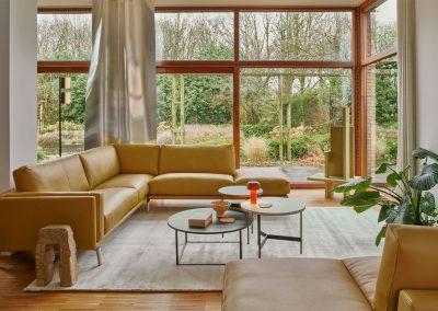 Sofa Bellice von Leolux in gelb