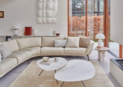 Sofa Rego von Leolux in Creme Melange
