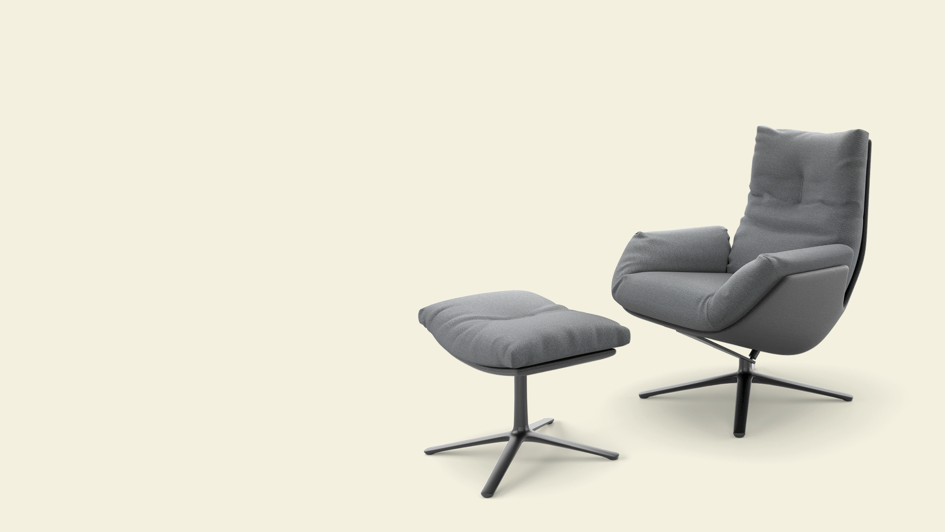 COR Smart Lounge Sessel und Hocker Cordia Lounge