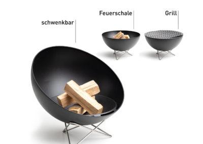 Feuerschale und Grill Bowl von höfats
